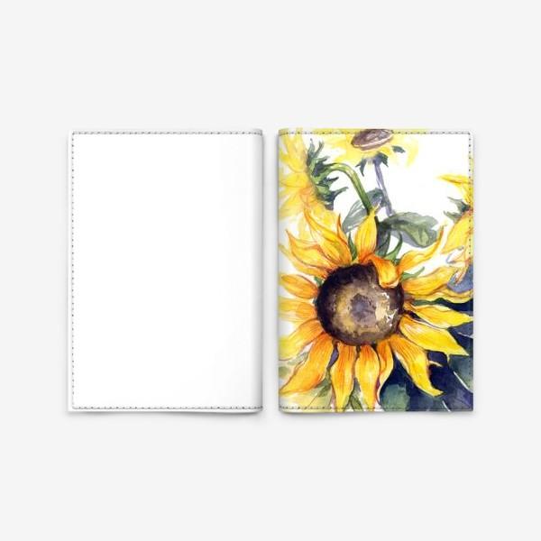 Обложка для паспорта «Sunflowers»