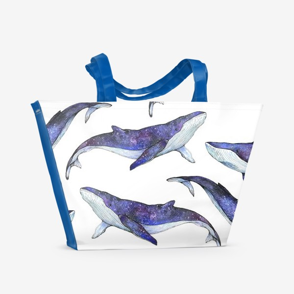 Пляжная сумка «Whales pattern»