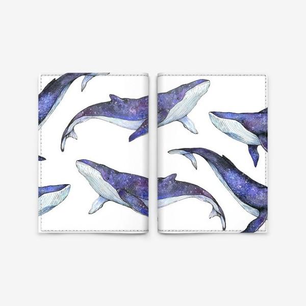 Обложка для паспорта «Whales pattern»