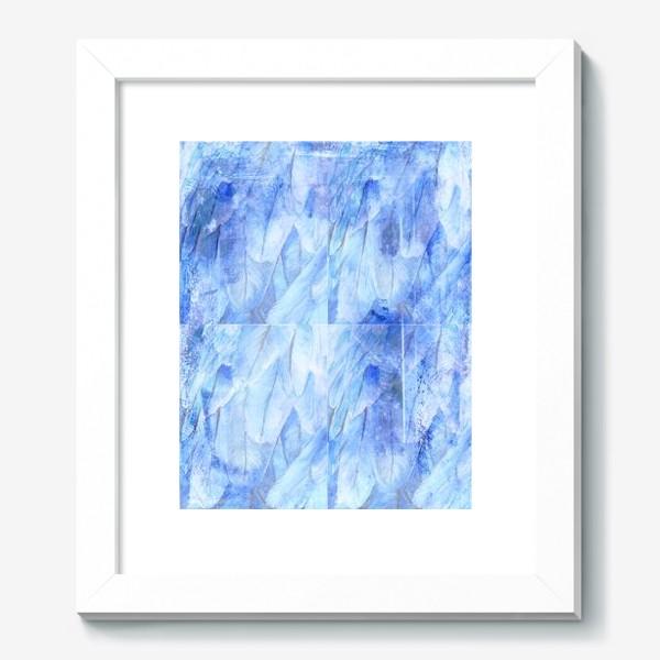 Картина «Фактура голубые перья»