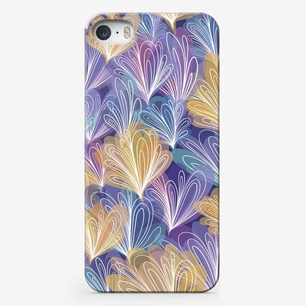 Чехол iPhone «Абстрактные узоры с акварельным эффектом»