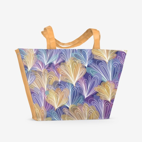 Пляжная сумка «Абстрактные узоры с акварельным эффектом»