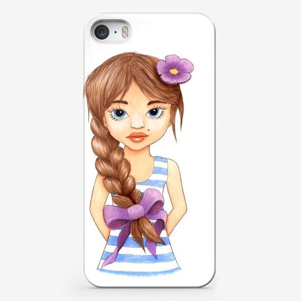 Чехол iPhone «Девочка с косой»