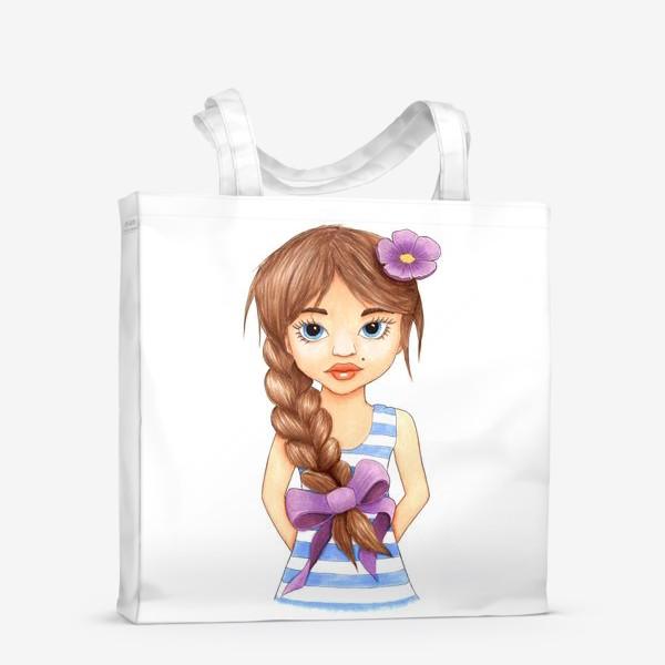 Сумка-шоппер «Девочка с косой»