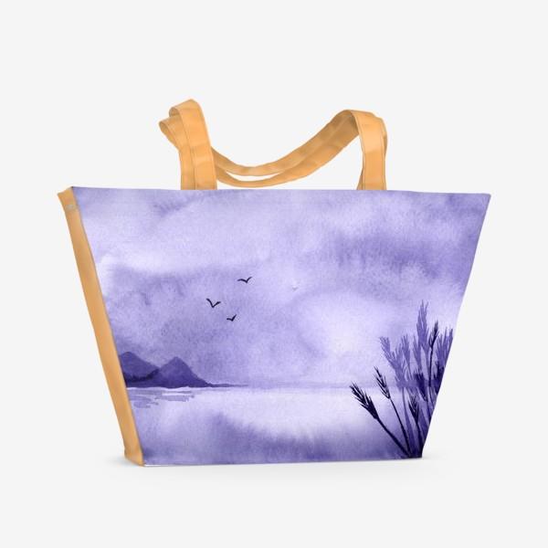 Пляжная сумка «Озеро. Пейзаж»