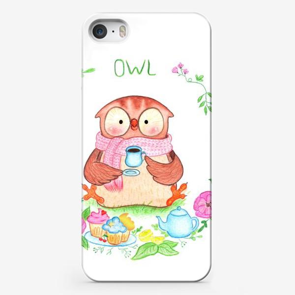 Чехол iPhone «Совушкино чаепитие»
