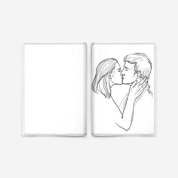 Обложка для паспорта «Целую»