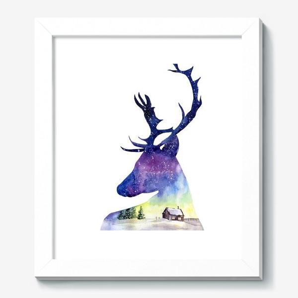 Картина «Акварель Северный олень»