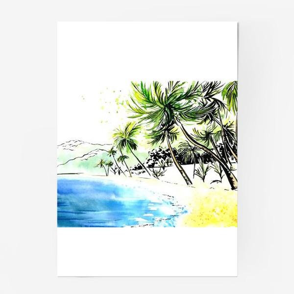 Постер «Тропический остров»