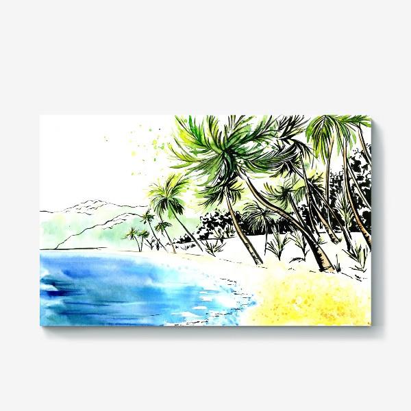 Холст «Тропический остров»