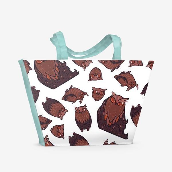 Пляжная сумка «owls»