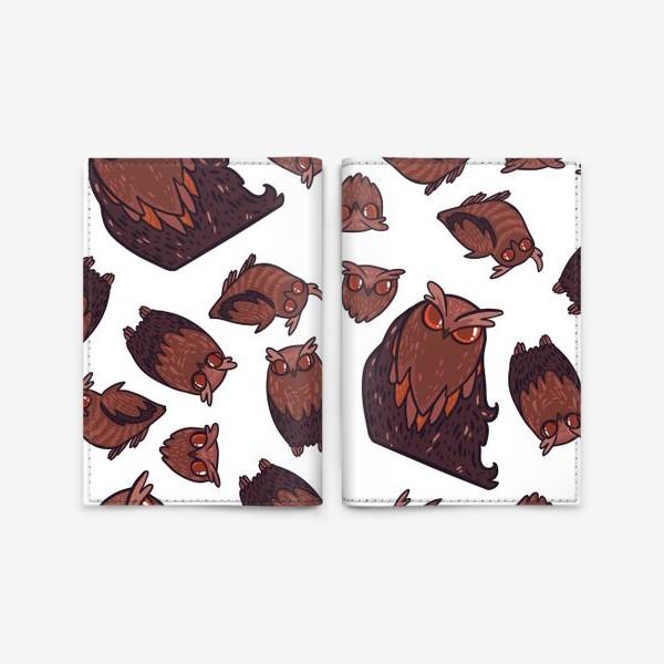 Обложка для паспорта «owls»