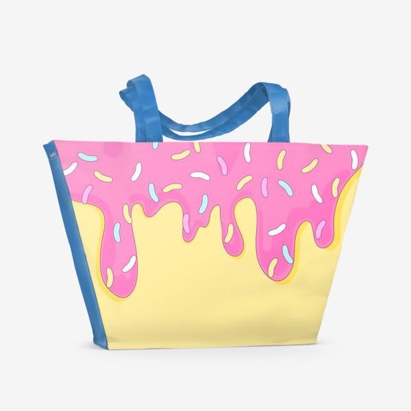 Пляжная сумка «сладкий как пончик»