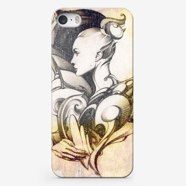 Чехол iPhone «Fashion иллюстрация с девушкой»