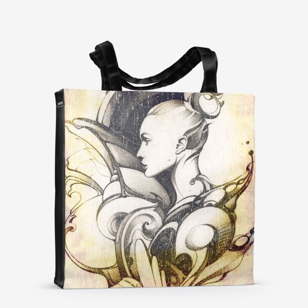 Сумка-шоппер «Fashion иллюстрация с девушкой»