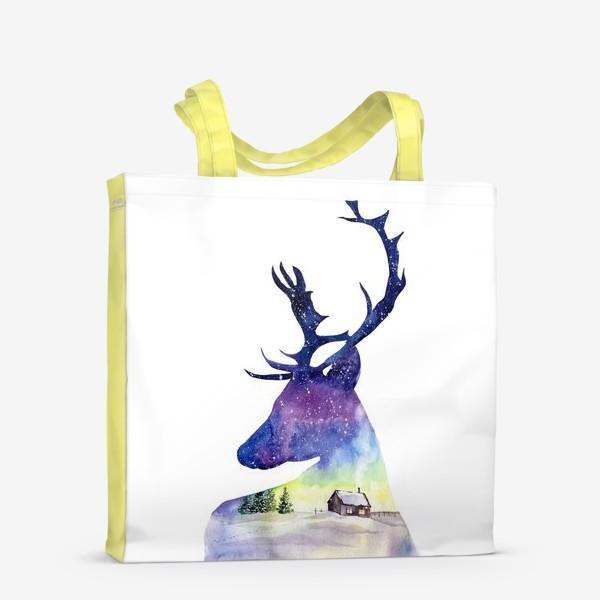 Сумка-шоппер «Акварель Северный олень»
