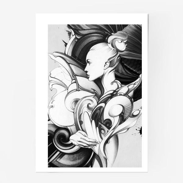 Постер «Fashion иллюстрация, портрет девушки»