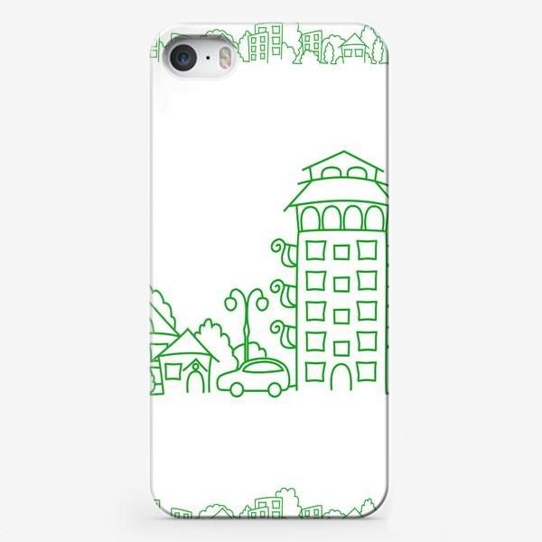 Чехол iPhone «Город. Коттедж»