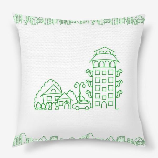 Подушка «Город. Коттедж»