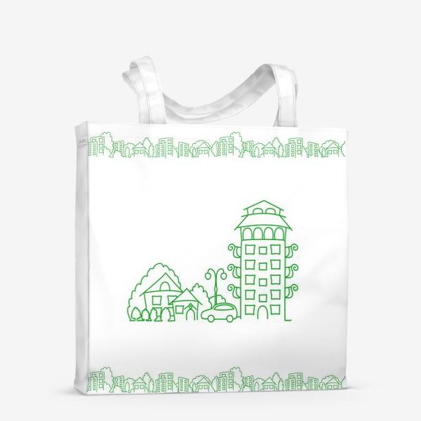 Сумка-шоппер «Город. Коттедж»