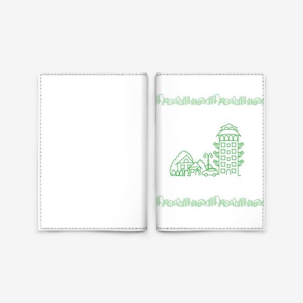 Обложка для паспорта «Город. Коттедж»