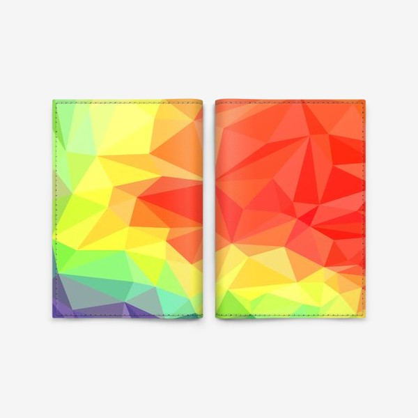 Обложка для паспорта «Polygonal Rainbow »