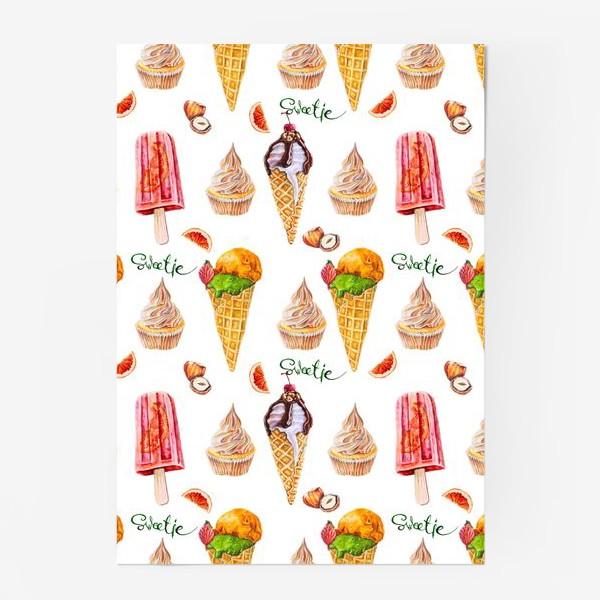 Постер «Сладости, мороженое и кексики»