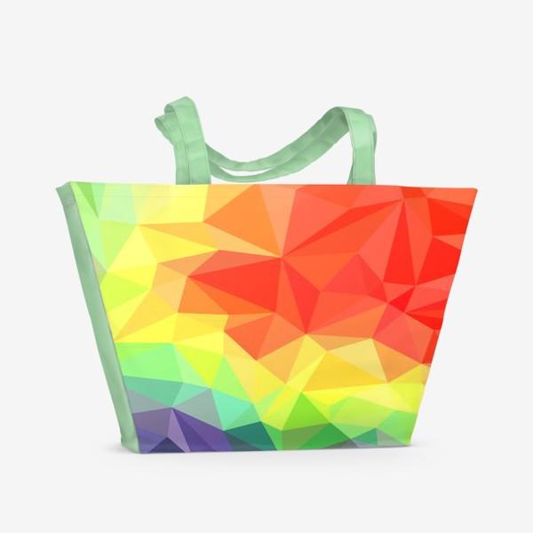 Пляжная сумка «Polygonal Rainbow »