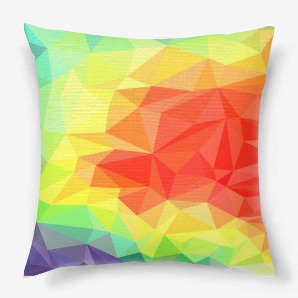 Подушка «Polygonal Rainbow »