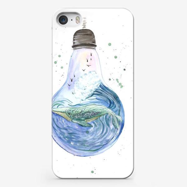 Чехол iPhone «Море в лампочке. Кит»