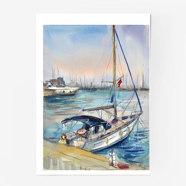 Постер «Лодка в Кемере»