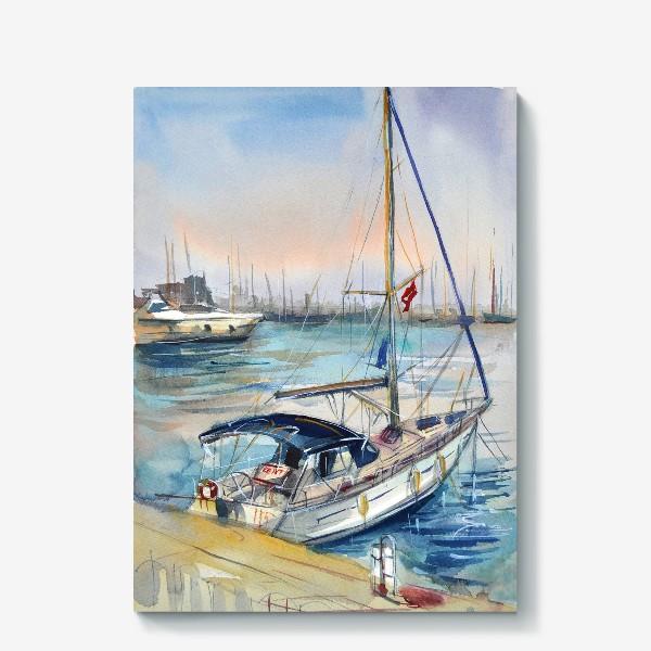 Холст «Лодка в Кемере»