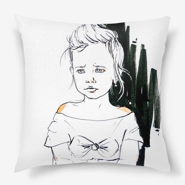 Подушка «Девочка обиделась»