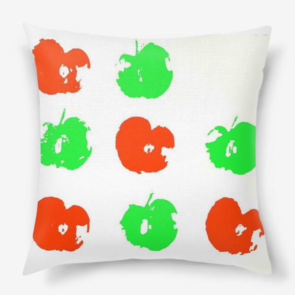 Подушка «Осень. Сбор урожая. Яблоки.»
