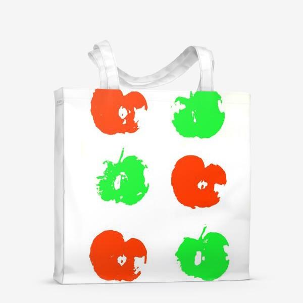 Сумка-шоппер «Осень. Сбор урожая. Яблоки.»