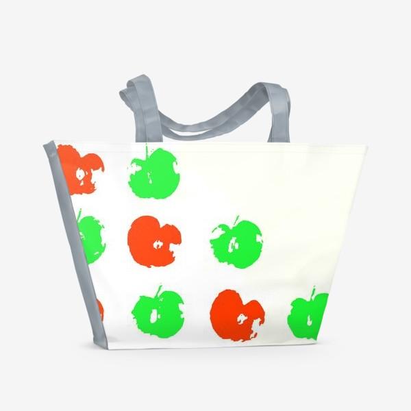 Пляжная сумка «Осень. Сбор урожая. Яблоки.»