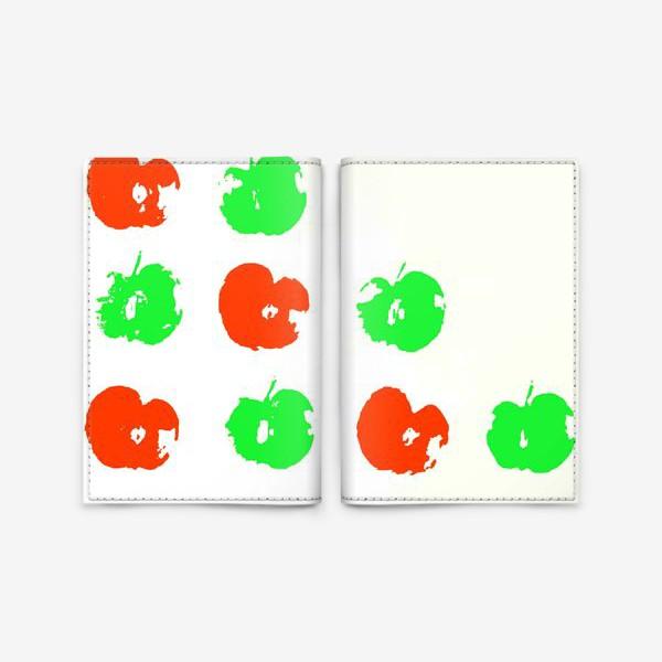 Обложка для паспорта «Осень. Сбор урожая. Яблоки.»