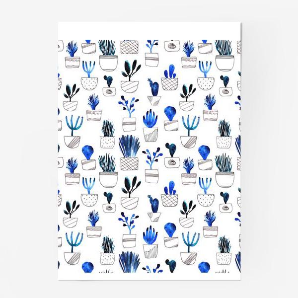 Постер «Синие кактусы»