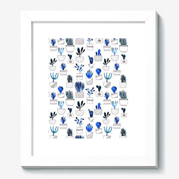 Картина «Синие кактусы»