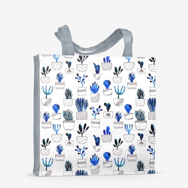 Сумка-шоппер «Синие кактусы»
