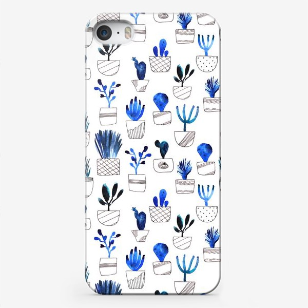 Чехол iPhone «Синие кактусы»