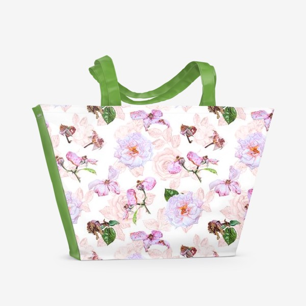 Пляжная сумка «Розовые розы»