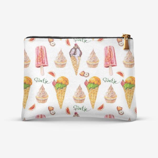 Косметичка «Сладости, мороженое и кексики»
