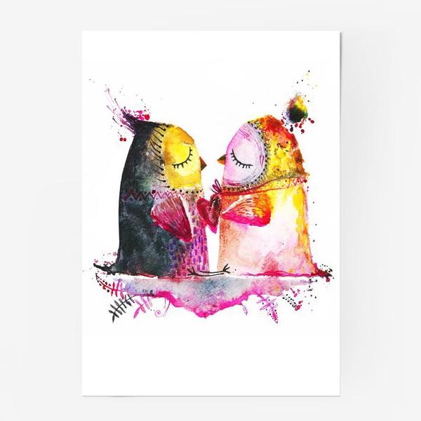 Постер «Совы на облаке»