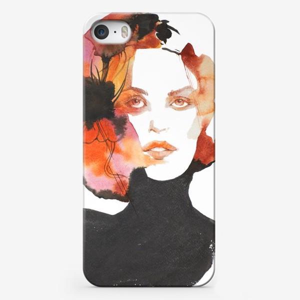 Чехол iPhone «Черный цветок»