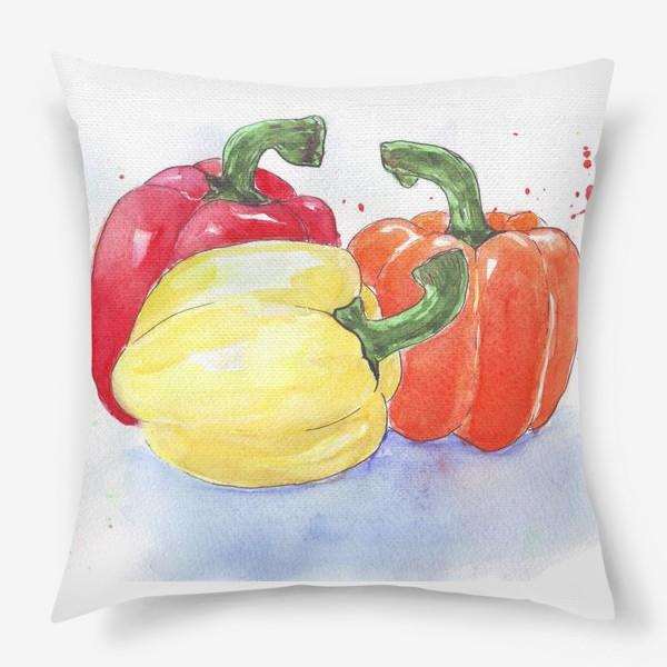 Подушка «Яркие перцы»