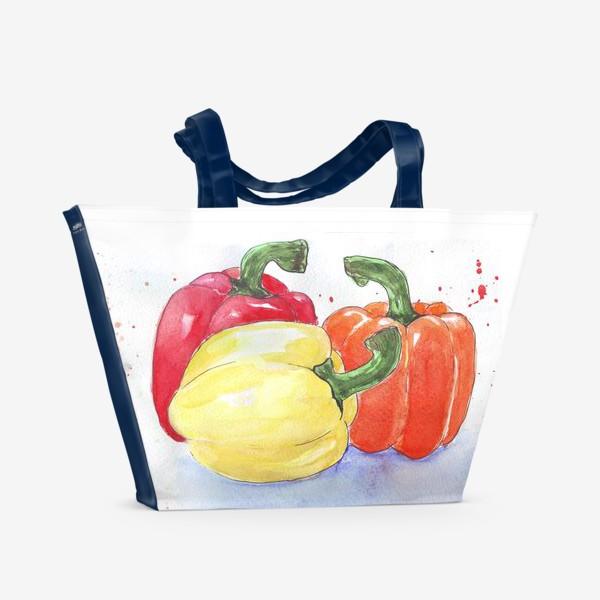 Пляжная сумка «Яркие перцы»