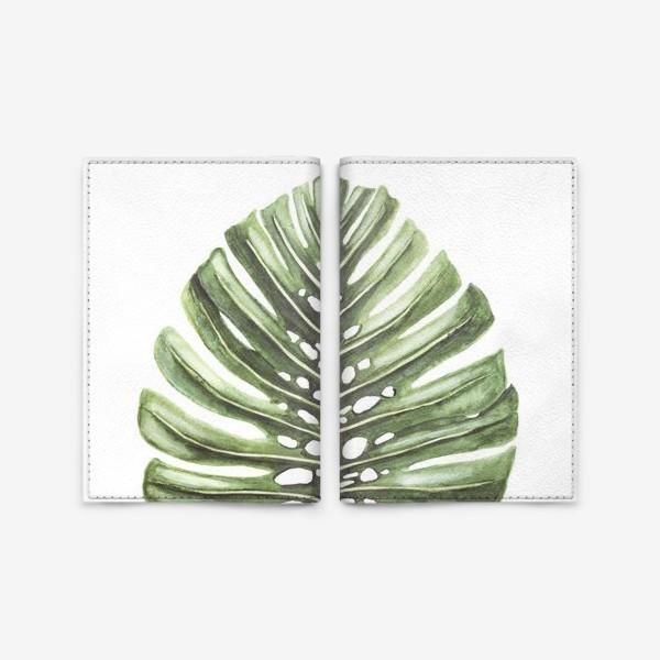 Обложка для паспорта «Монстера ( тропический лист )»