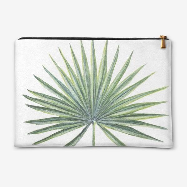 Косметичка «Лист веерной пальмы»
