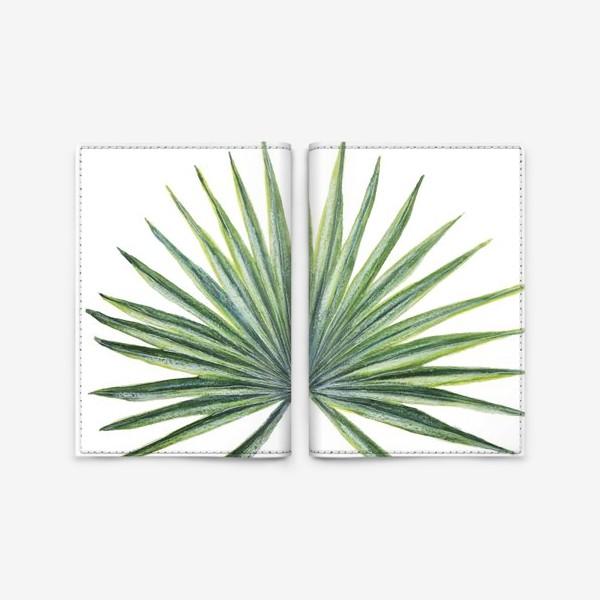Обложка для паспорта «Лист веерной пальмы»